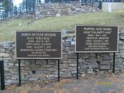 English: Memorial plaques situated at the base of where Wild Bill Hickok and Calmity Jane are now buried