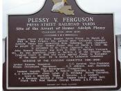 English: This is the back side of the Plessy v. Ferguson marker installed Feb. 12, 2009.