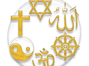 Symbol of the major religions of the world: Judaism, Christianity, Taoism, Hinduism, Buddhism and Islam.