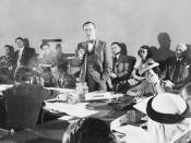 Mr. Lester Bowles Pearson addressing one of the committees at the United Nations Conference on International Organization in San Francisco / M. Lester Bowles Pearson s'adressant à l'un des comités à la Conférence des Nations Unies sur l'Organisation inter
