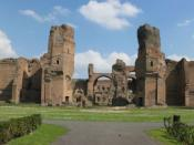 English: Panorama of the Thermae of Caracalla (Baths of Caracalla) in Rome