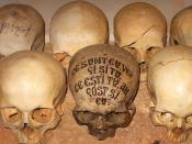 On a skull in the ossuary of the Romanian Skete Prodromos on Mount Athos one can read the following inscription in Romanian: