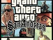 The 'San Andreas' text below Grand Theft Auto logo is written with this font.