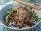 凉米线 Rice Noodles with Cold Spicy Garlic Sauce and Peanuts - Laomeng Market