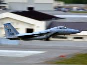 ELMENDORF AIR FORCE BASE, Alaska -- A Tyndall F-15C takes off from here for Cooperative Cope Thunder. Six F-15Cs and 81 service members deployed here from Tyndall Air Force Base, Fla. to participate in Cope Thunder, a Pacific Air Forces-sponsored air comb