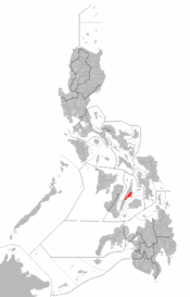 Map of Metro Cebu within the Philippines
