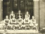 This is the Dickson High School Basketball Team. From Dickson, Tennessee, 1922.