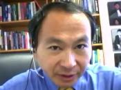 English: Francis Fukuyama. Image source is a screen shot from a BloggingHeads.tv video podcast.