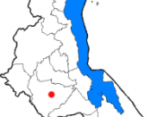 The districts of Malawi, with the capital Lilongwe marked in red.