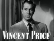Cropped screenshot of Vincent Price from the trailer for the film Laura.