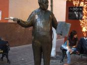 English: Statue of Diego Rivera near Rivera's boyhood home in Guanajuato, Mexico.