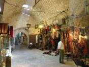 English: Aleppo, textile suq market