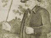 English: John Metcalf (civil engineer). Uploaded from http://www.knaresborough.co.uk/history/blindjack/ Drawn by J R Smith in the Life of John Metcalf published 1801.
