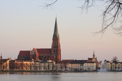 English: Schwerin, Germany, view over the Pfaffenteich