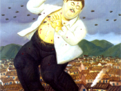 Fernando Botero portrayed Pablo Escobar's death in one of his paintings about violence in Colombia