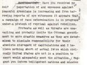 A telegram sent by Ambassador Henry Morgenthau Sr. to the State Department on 16 July 1915 describes the massacres as a