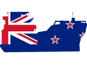 Ship outline with NZ Flag inset