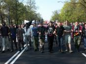 Demonstration of anti-globalization movement in Warsaw