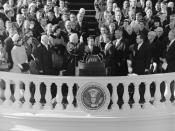 January 20: John F. Kennedy is inaugurated as the 35th President of the United States.