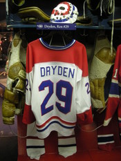 English: Montreal Canadiens locker room display (Ken Dryden) at the Hockey Hall of Fame, photographed in Toronto, Ontario, Canada on July 24, 2010.