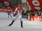 English: Priit Narusk in the qualification for the Tour de Ski in Prague. Français : Priit Narusk pendant les qualifications du Tour de Ski à Prague. Italiano: Priit Narusk durante la qualificazione per il Tour de Ski di Praga. Español: Priit Narusk duran