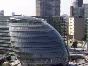 The Greater London Authority is based in City Hall, Southwark