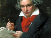 Portrait Ludwig van Beethoven when composing the Missa Solemnis