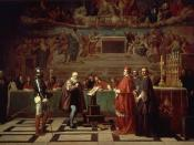 A 19th century depiction of Galileo before the Holy Office, by Joseph-Nicolas Robert-Fleury
