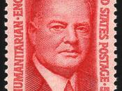 English: US Postage stamp: Herbert Hoover, Issue of 1965, 5c