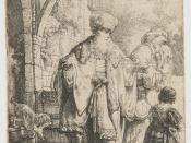 English: Abraham casting out Hagar and Ishmael