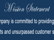 Sample mission statement