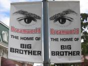 English: Dreamworld: The Home of Big Brother Australia banners near the park entrance.