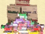 A mound of Girl Scout cookies. This mound contains 74 boxes of cookies