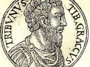 English: Tiberius Sempronius Gracchus was a Roman politician of the 2nd century BC and brother of Gaius Gracchus.