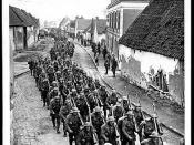 Regiment marching back to billets after Monchy