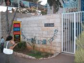 The entrance to the Dada museum in En Hod, Israel.
