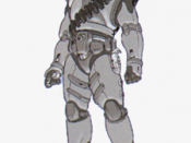 Shi Kai Wang's preliminary sketch of the Master Chief