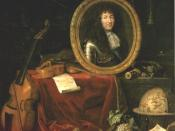 Painting from 1667 depicting Louis as patron of the fine arts.