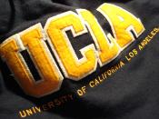 A hoodie with the University of California, Los Angeles trademark.