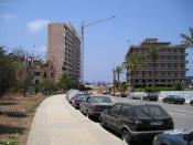 Part of Rue Minet al Hosn, where Rafik Hariri was assassinated on February 14, 2005