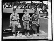 [Three baseball players (boys) wearing Cleveland uniforms] (LOC)