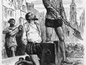 English: The execution of Sir Walter Raleigh.