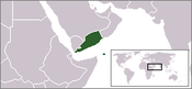 Location of South Yemen