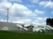COMSAT Brazil facilities in Hortolândia, near Campinas. Photo taken by Renato M.E. Sabbatini on November 5, 2005