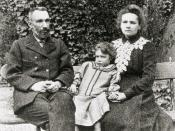 English: Marie, Pierre and Irene Curie Deutsch: Marie, Pierre und Irene Curie