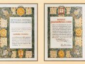 English: Marie Skłodowska-Curie Nobel Prize Diploma