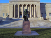 The Thinker on the south lawn of the Nelson-Atkins Museum of Art in Kansas City, Missouri, United States