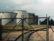 The Dow Chemical spur of the King's Lynn docks railway. This was probably taken from within the confines of the Dow Chemical complex.