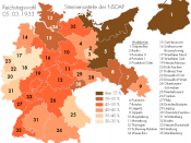 NSDAP election results of 1933 in Germany's constituencies