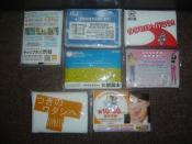 A variety of advertising tissue packages.